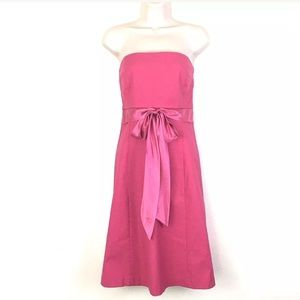 J.Crew Pink Strapless A-Line Party Formal Dress 🎉